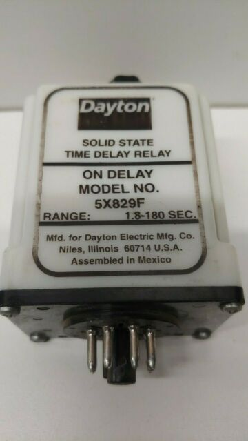 NOS Dayton 5X829F Time Delay Relay 1.8-180 Seconds 120vac on
