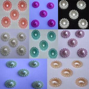 200 5mm Peach Round Flatback Acrylic Pearl Gems Wedding