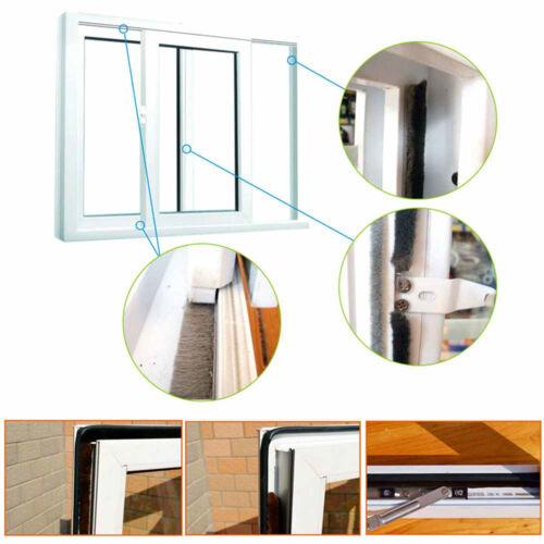 Self Adhesive Weather Strip Window Door Draught Excluder Brush Seals 5m #M2R