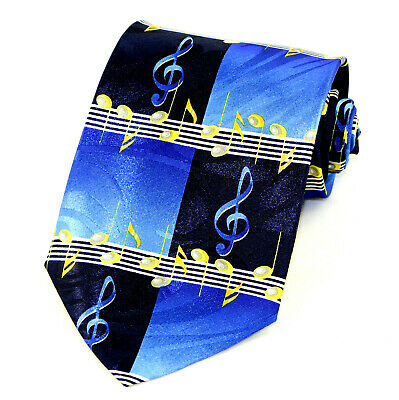 Piano Blues Men/'s Necktie Music Instrument Notes Musician Gift Blue Neck Tie