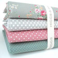 FQ Bundle - Chloe - Grey & Dusty Green x 4 - Fat Quarter - Cotton Fabric Patchwo
