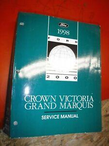 1998 FORD CROWN VICTORIA MERCURY GRAND MARQUIS 2 VOLUME ...