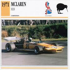 1971 McLAREN M18 Racing Classic Car Photo/Info Maxi Card