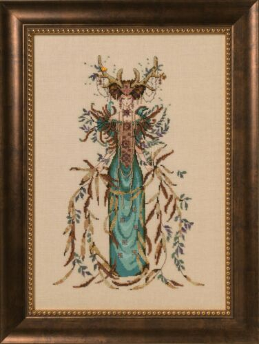 """COMPLETE XSTITCH MATERIALS /""""CATHEDRAL WOODS GODDESS  MD164/"""" by Mirabilia SALE"""