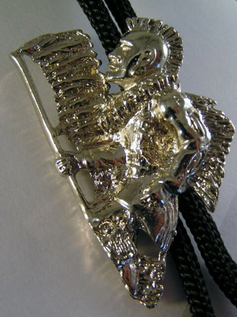 Western Bolo Bootlace Ties Silver Colour on Black Cord 24 Choices Line Dancing
