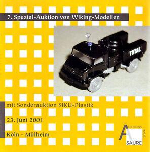 mit SIKU-Auktion Auktionskatalog 33.Wiking-Auktion