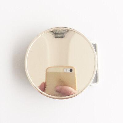 Small Size Chrome Bright Silver Round Blank Belt Buckle Custom Belt Buckle
