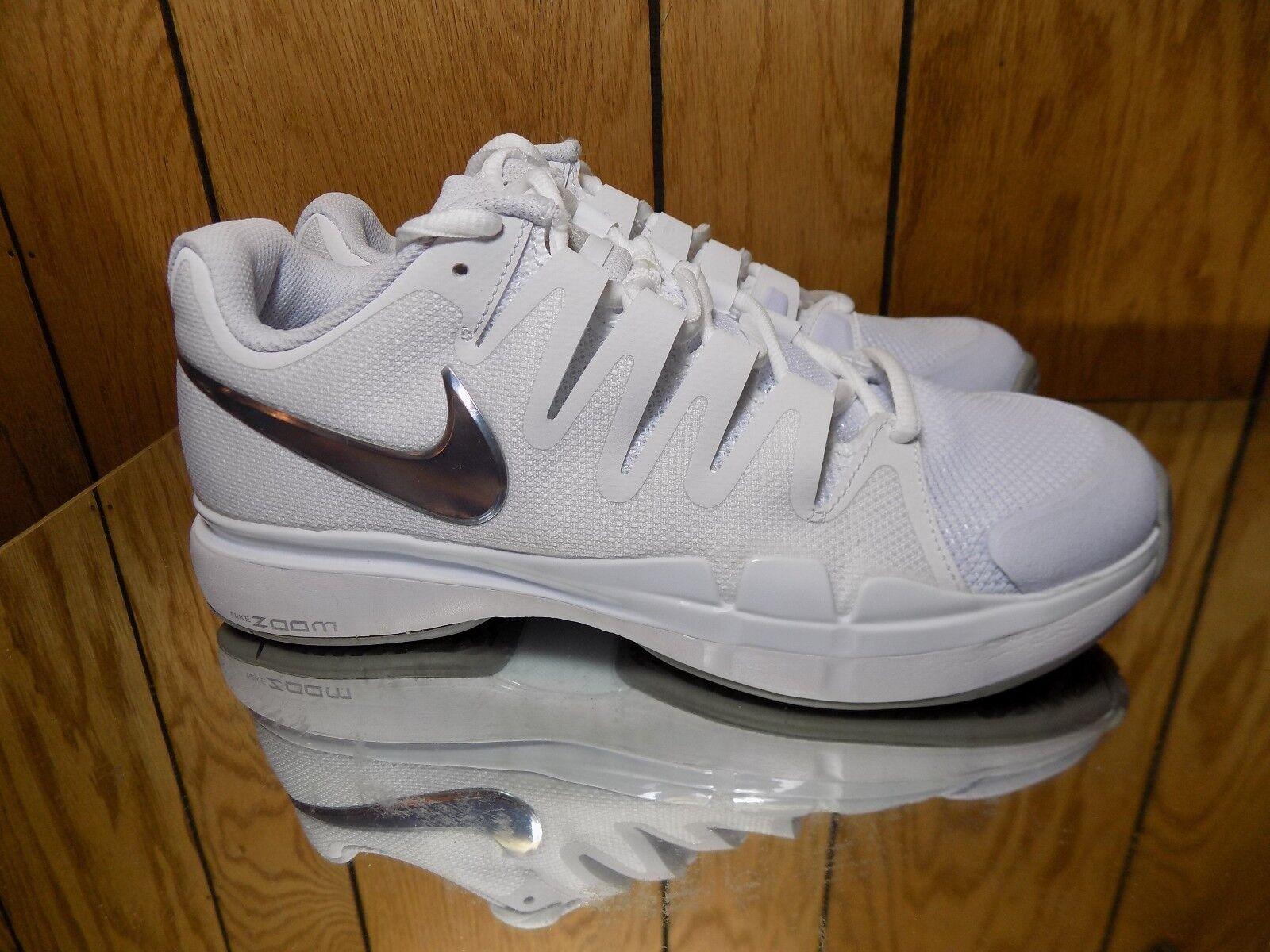 Nike Women Zoom Vapor Tour Tennis Shoe White/Silver 631475-101 s 6.5