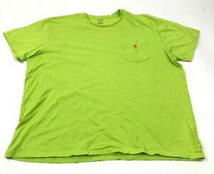 Polo-Ralph-Lauren-Shirt-Mens-Size-Extra-Large-Lime-Green-Short-Sleeve-Pocket-Tee