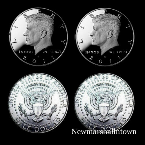 2011 P+D+S+S  Kennedy ~ Silver and Clad Proofs ~ P/&D from U.S Mint Rolls