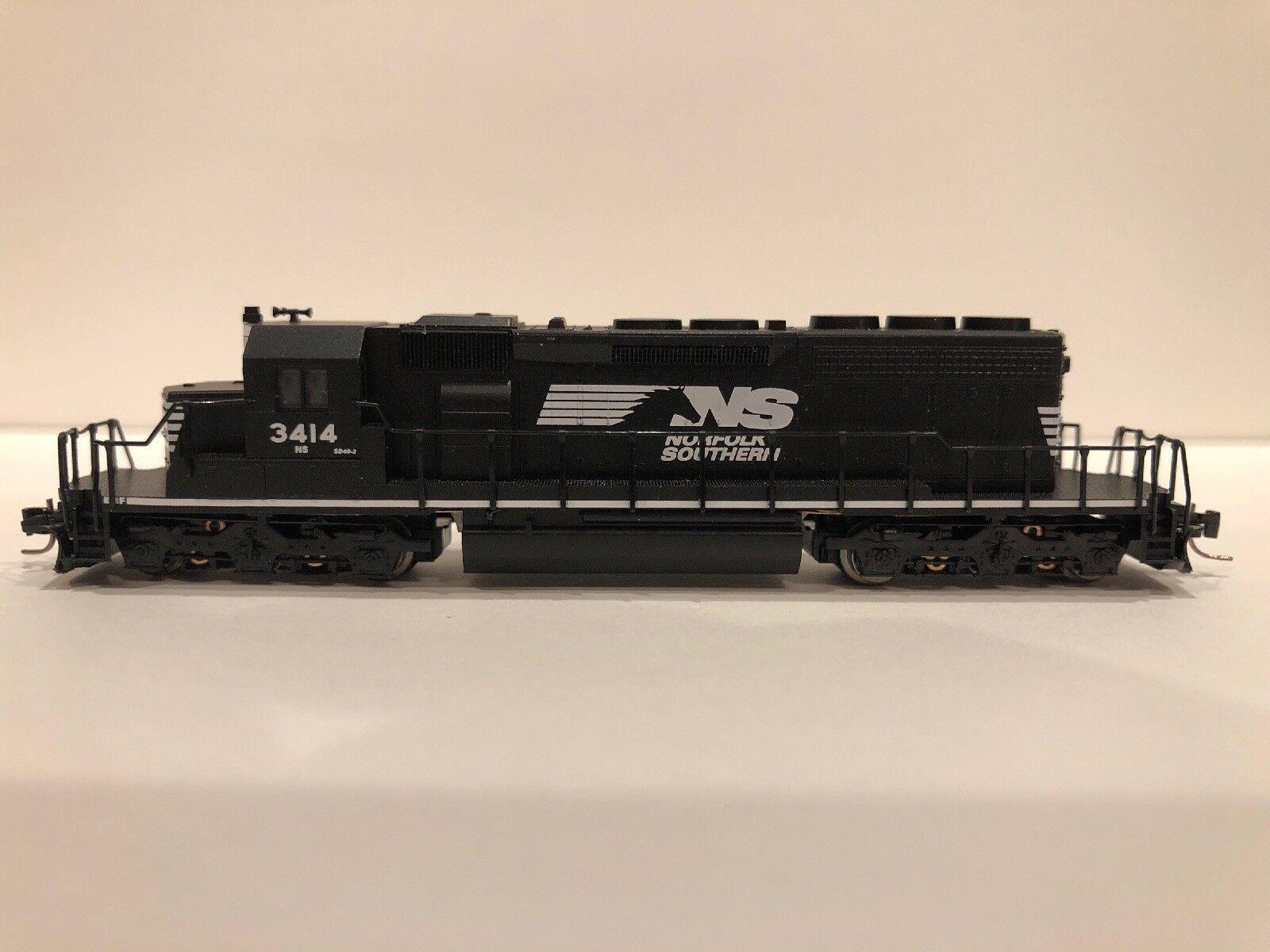 Z Scale MTL Norfolk Southern SD-40-2 Locomotive RD  3414
