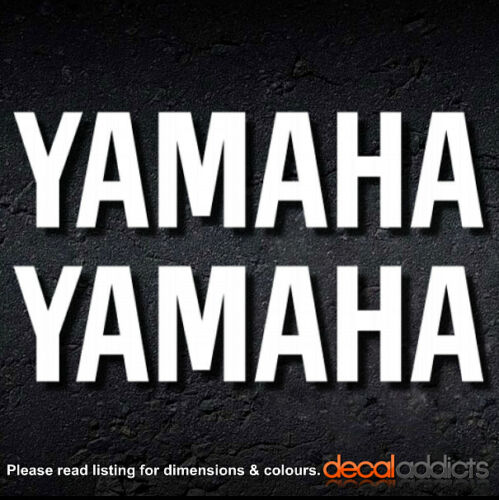 a pair YAMAHA Vinyl Decal Stickers Suitable for motorcycle tank 200x50mm 2x