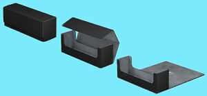 ULTIMATE-GUARD-ARKHIVE-BLACK-XENOSKIN-FLIP-400-DECK-CASE-Card-Storage-Box-MTG