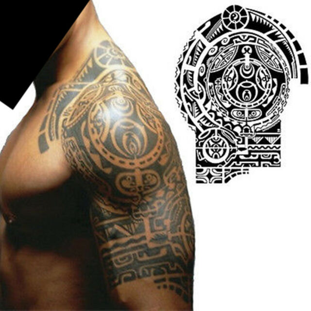 c11ab659b Waterproof Body Makeup Left Shoulder Temporary Tattoo Sticker Stickers  Removable