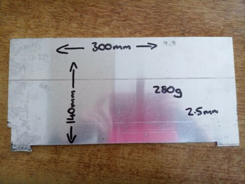 Aluminium Sheet 300mm x 140mm x 2.5mm