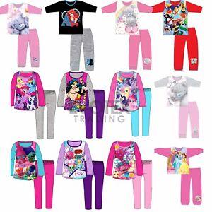 Girls-Kids-Pyjamas-Character-Disney-Childrens-Pyjama-Set-Age-1-12-Years