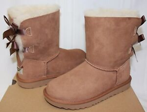 77c50293b68 Details about Ugg Kids Bailey Bow II 2 chestnut suede boots 1017394K NEW  With Box