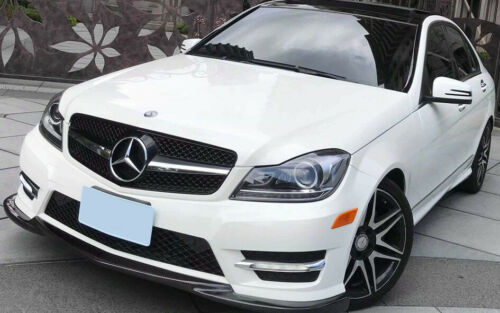 08-13 For Benz W204 SL Look Shiny Black Chrome Star Front Grille C200 C300 C350