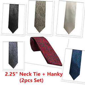 New Men/'s Formal stripes polyester Neck Ties /& Hankie set beige prom wedding