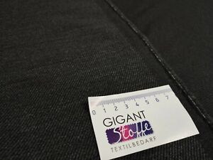 1M Wollstoff 82/%Schurwolle 18/%Pes Meterware aus Italien Edel Jeansblau meliert