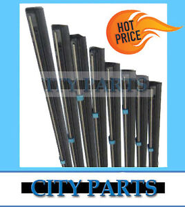 "40 x NEW WIPER BLADE INSERTS 6mm 24"" UNIVERSAL TWIN RAIL METAL BACK"