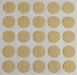 15 X 18 Mm Autocollante Vis Trou Cam Cover Cap Maple Meubles Cuisine Chambre À Coucher-afficher Le Titre D'origine Eexgvmyh-07181347-641353673