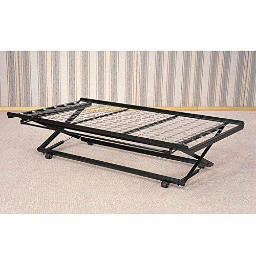 Twin Rolling Pop Up Trundle Metal Frame Casters Support Link