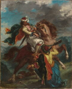Eugene-Delacroix-Turk-Surrenders-To-A-Greek-Horseman-Giclee-Canvas-Print