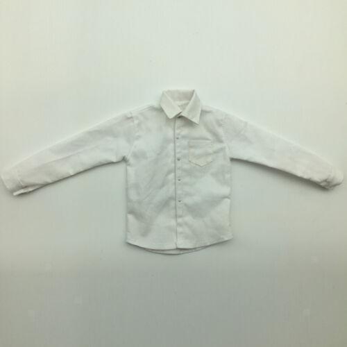 6 Scale Outfit Weißes Langarmhemd Für 12inch Sideshow Männliche 1