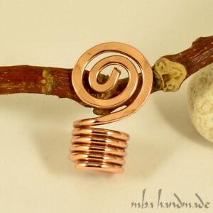 5 Pieces Spiral Copper Viking Hair Beads Beard Jewelry Dreadlock Hair Accessories