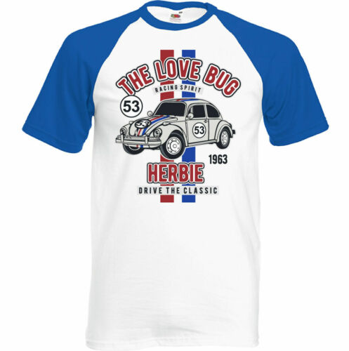 Love Bug Herren Lustige Herbie Fahrten Wieder T-Shirt Auto Enthusiast