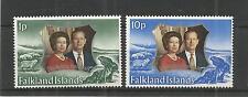 Falkland ISOLA 1972 Royal Argento Matrimonio SG, 289-290 U/M N/H LOTTO 3245A