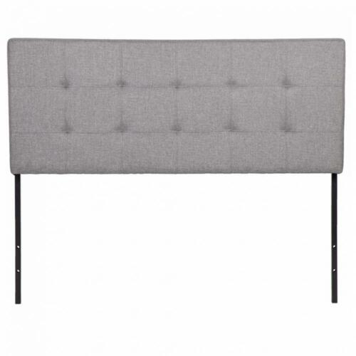 Gray//White Twin Full Queen King Size Upholstered Headboard Bedroom Furniture
