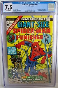 Giant-Size-Spider-Man-No-4-1975-CGC-7-5-1st-App-Moses-Magnum-amp-3rd-App-Punisher