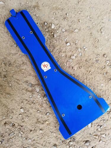 Kased Plates /'87-/'06 YAMAHA BANSHEE 3MM BLUE Lifetime Warranty Frame Skid Plate