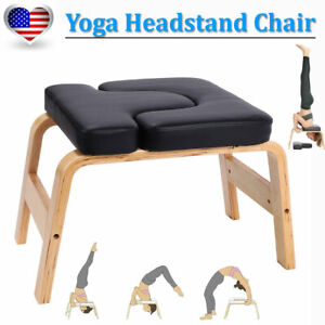 yoga headstand chair wooden inversion bench fitness