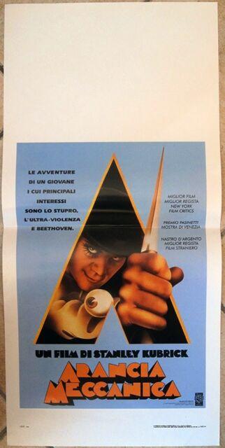 Poster Locandina ORIGINALE - ARANCIA MECCANICA - Stanley Kubrick - 33x70cm