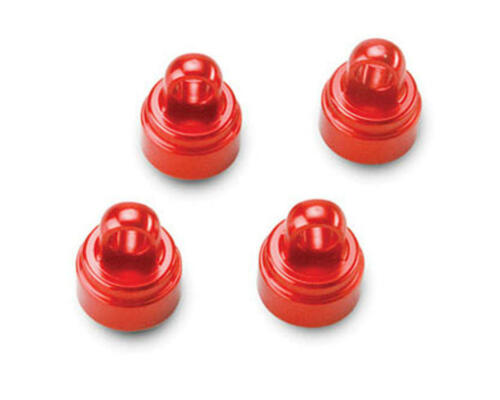 Red TRA3767X Traxxas Slash Rustler Stampede Ultra Shocks Aluminum Shock Caps