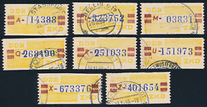 DDR-Dienst-B-20-Lot-8-Stueck-verschiedene-Buchstaben-gestempelt-Mi-60
