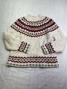 Croft & Barrow Sweater sz Large mock turtleneck acrylic blend