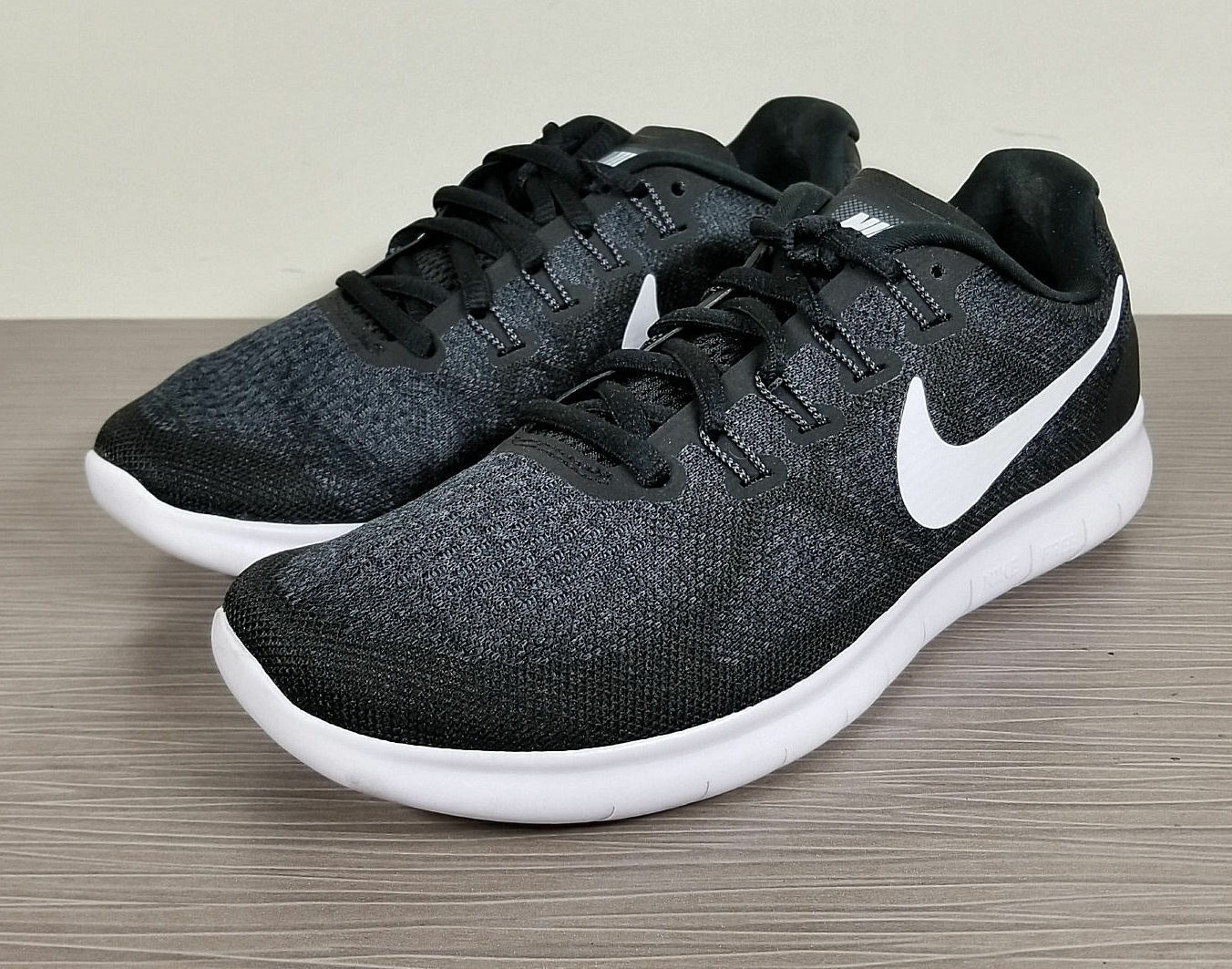 Nike Free RN Black Flyknit 2017 Running Shoes, Black RN & White, Womens Various Sizes fecf87