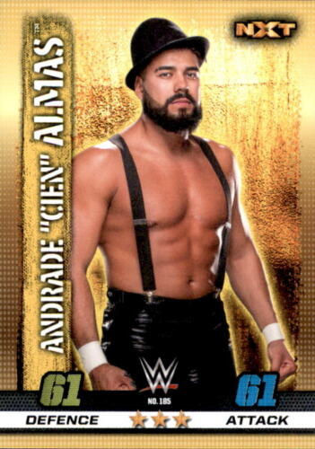 10th Edition-Nº 185-Andrade Almas-NXT Wwe Slam Attax cien