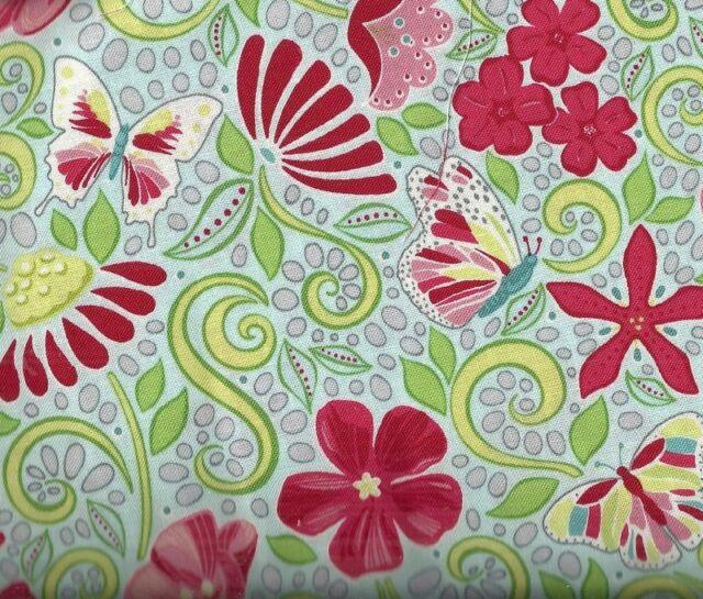 Meadow Dance red Benartex fabric