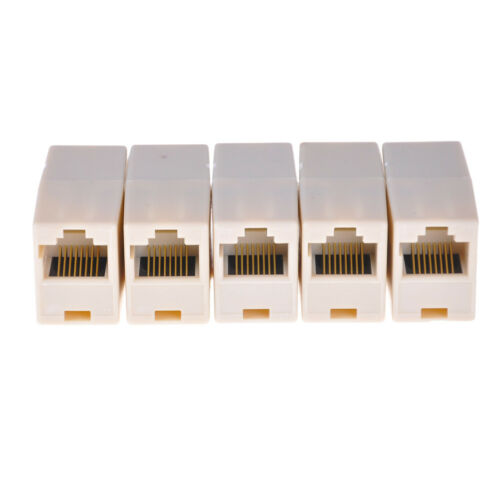 5x RJ11 ADSL Cable Lead Female Joiner Inline Adaptor Coupler Connector HFFBER