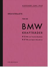 BMW R 12 17 (Seitenwagen) Ersatzteilliste Ersatzteilkatalog Teilekatalog R12 R17