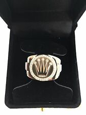 Men's 14kt Solid Yellow Gold Diamond Cluster Band Ring ~ 20.1 Grams ***
