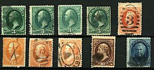 USA-1870-81-range-of-Presidential-issues-from-different-print-runs-will-Stamps