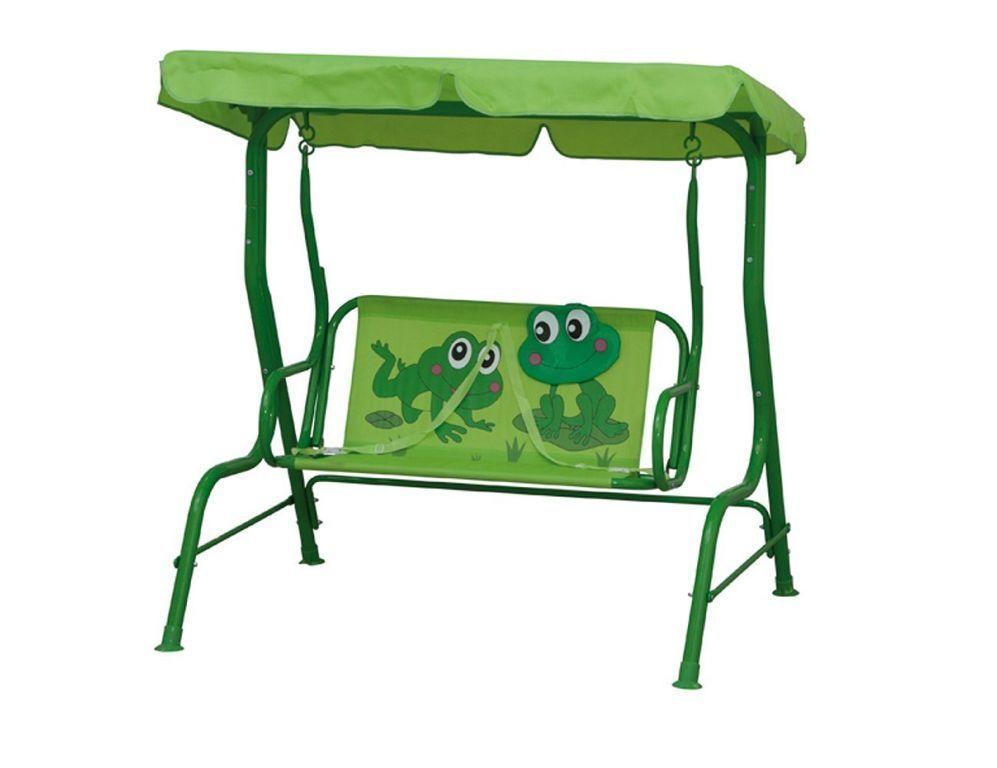 Siena Kinderschaukel Garden 672608 Froggy Kinderschaukel Siena Dach mit Froschmotiv Hollywood D15 adecfe