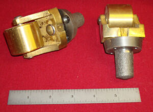 2 New Vintage Solid Brass & Cast Iron Crazy Wheel Wheels Caster Casters Wow !!! Furniture