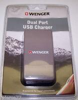 Wenger Dual Port Usb Charger - Gray - Nip